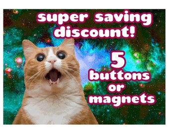 Discount listing 5 buttons or magnets 1.5 Inch