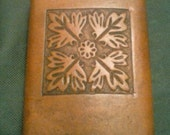 Celtic Leather Covered Whiskey Flask: Early British Tile, 8 oz.