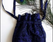 One of a Kind Midnight Garden Purse by Kambriel in Vintage Purple & Black Brocade - Shoulder Bag - Ready to Ship!