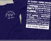 team Teacher shirts - back to school kindergarten teacher t-shirts (customize for any grade) personalized teacher's shirt
