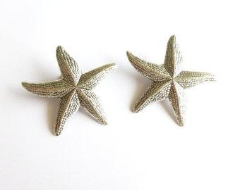 Silver Starfish Hair Clips Mermaid Barrettes Girls Nautical Ariel Beachy Nature Destination Beach Wedding Accessories Womens Gift For Her