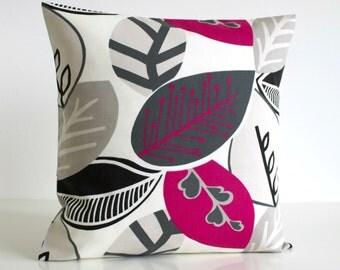 Decorative Pillow, Sofa Pillow Cover, 16 Inch Pillow Cover, 16x16 Cushion Cover, Pink Pillow Sham, Pillow Case - Nordic Fall Fuchsia