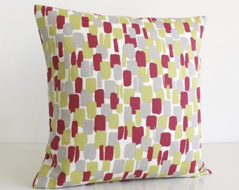 Pillow Covers, Yellow Pillow Sham, Throw Pillow Cover, Accent Pillows, Scandi Pillow Cover, Pillow Sham, Pillowcase - Scandi Blocks Spice