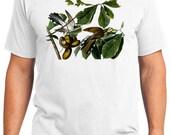 Yellow-billed Cuckoo Bird Retro Men & Ladies T-shirt - Gift for Bird Lovers and Ornithologist (idc002)