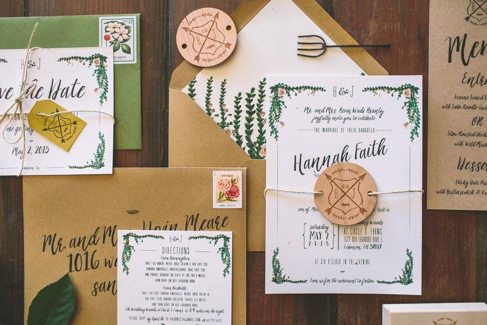 Garden Wedding Invitations: Rustic And Whimsical Garden Wedding Invitation