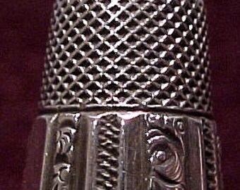 Sterling Silver Ketcham & Macdougall Sewing Thimble 1900 Ornate Antique