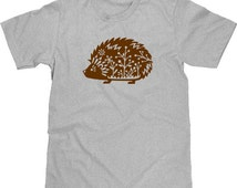 Hedgehog T Shirt, Funny T Shirt, Woodland Critter, Animal T Shirt, Funny Tshirt, Funny Graphic Tee, Whimsical Animal T Shirt, Mens Plus Size