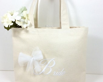 Wedding tote bag - Honeymoon bag - Bridal bag - Canvas beach tote - Beach tote bag - Bride tote bag - Bridal gift bag