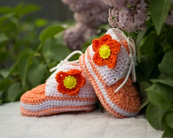 Baby Girl Shoes, Baby Girl Sneakers, Girl Shoes, Girl booties,  Baby Sneakers, Newborn Girl Shoes, Photo Prop, Baby Shower Gift, Nursery