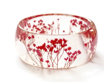 real flower resin bangle, resin jewelry bracelet, flower bracelet, real flower bangle, pressed flower bracelet, preserved flower bracelet