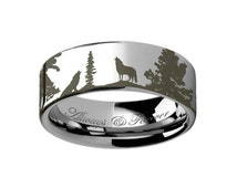 unique wolf wedding ring related items etsy