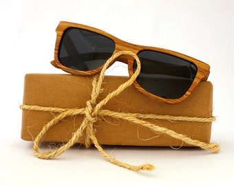 Kosso Wood Sunglasses Wayfarer Wooden Polarized Eyewear for Man Woman WOODEER