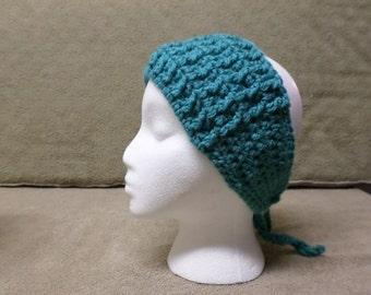 Dark Teal Crocheted Headband