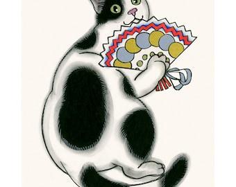 "Cat Print -  Cat Art - Cat Decor - Pretty Millicent 4"" X 6"" print - 4 for 3 SALE"