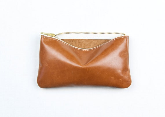MAE Camel Leather Wallet. Camel Leather Clutch. Leather Wallet. Caramel Leather Pouch