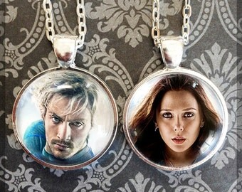 Choose from 2 images! - Scarlet Witch and Quicksilver Pendant