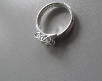 Sterling Silver Ring Blank! Coil Design With Multiple Loops! .925! Adjustable!