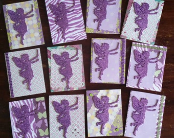 Purple Fairy Party Invitations (Set of 12)
