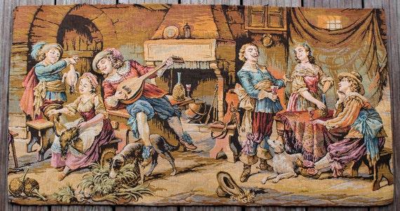Tapisserie ancienne murale gobelin antique francais - Tapisserie murale ancienne ...