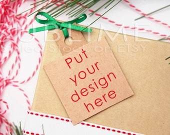Christmas Styled Stock / Blank Tag / Blank Label / Mock up / Christmas Stickers / Christmas tags / 2 JPEG Digital Images / StockStyle-509