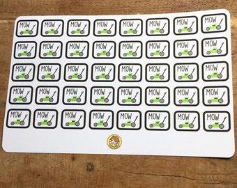 Lawnmower Planner Stickers