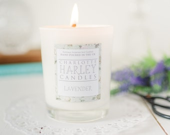 Lavender Oil Aromatherapy Candle, Soy Candle, Luxury Candle