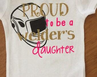 Welders daughter onesie
