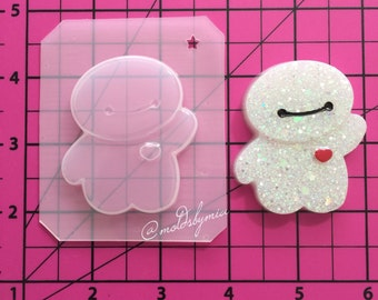 ON SALE!! Cutie robot flexible plastic resin mold