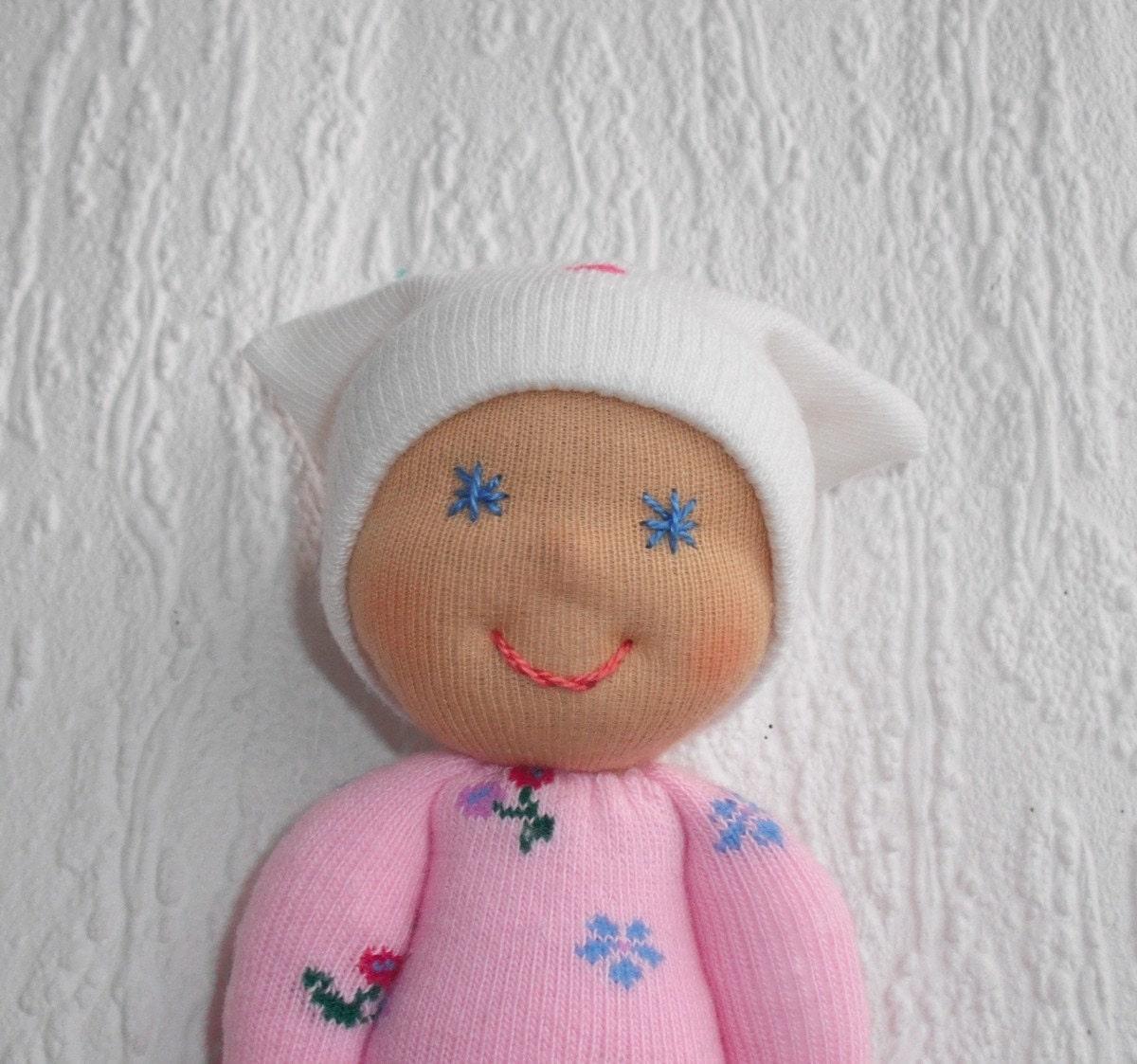 Waldorf baby doll Pocket doll Sock doll by WaldorfDollsByIren