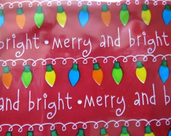 Wilton Party Bags, Christmas Treat Bags, Holiday Goody Bags, Christmas Lights Pattern, Holiday Lights Pattern