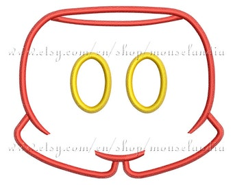 pants Applique Design  3 sizes 4X4, 5X7 and 6X10 Instant Download