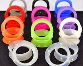 Thin Silicone ear tunnel saddle gauge soft flexible earskins.  Available in 11 colors! SL-002