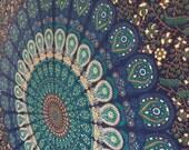 Hippie Mandala Tapestry wall hanging boho bohemian twin bedding throw bedspread ethnic home decor art