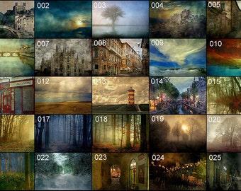 Photo card, Fine Art Photography, any print, postcard, photo art, nature, landscape, sea, cityscape, fog, Sandra Röken, FREE SHIPPING,sample