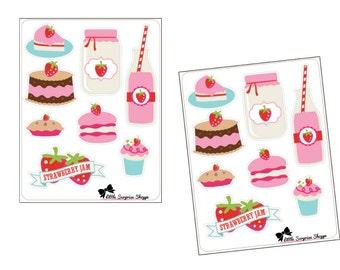 Strawberry Kiss Stickers // F010