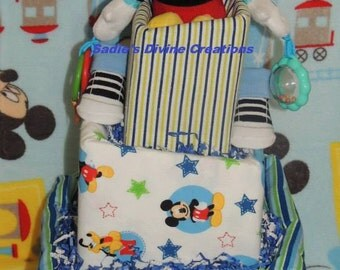 3-Tier Mickey Mouse Topsy Turvy Diaper Cake