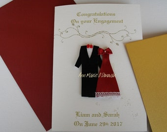 Beautiful  Engagement card for a very special couple