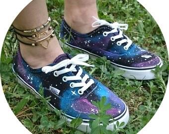 Galaxy Designed Vans Shoes