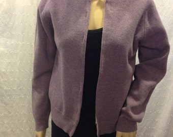 Lavender Wool Sweater - Murray Brothers (made in the UK)