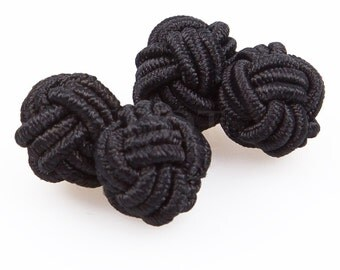 Knot Black Cufflinks