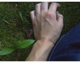 Mild Mannered Wrap Bracelet -- Simple Gold Chain Bracelet
