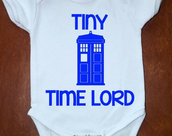 Tiny Time Lord - Stormageddon - Doctor Who Inspired Baby Rompers - Choose 1