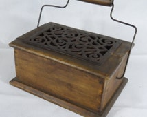 Antique French foot warmer