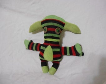 Timothy the Striped Sock Monster