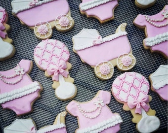 Baby Girl Shower Favor Cookies