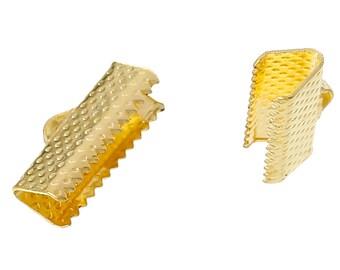 Crimp End, Gold Plated Crimp End, 16 mm x 8 mm Crimp, 10 count (CE-16x8-G)