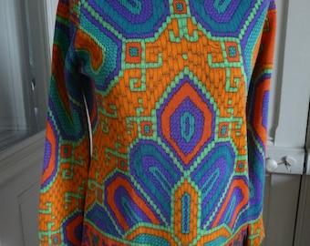 LEONARD FASHION - sweater woman vintage size 38/40FR