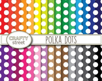 Polka Dot digital paper, Digital paper, Polka dot paper, Scrapbook paper, INSTANT DOWNLOAD, Polka dot digital, Scrapbooking, Polka dot, Dots