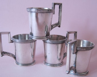 Lovely vintage minature silver mint julip or wine mugs marked AG 8555