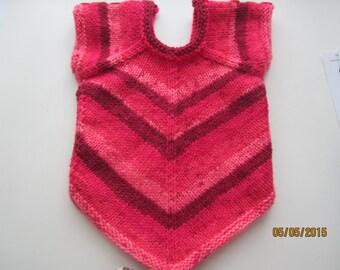 Handknit Infant Girls short sleeve Sweater   MARKDOWN
